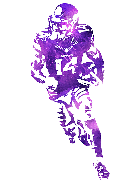 Stefon Diggs Minnesota Vikings Water Color Pixel Art 3 Iphone X Case