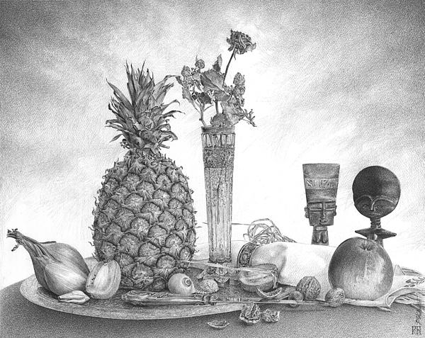 Pawel Gladkow - Still Life with Pineapple