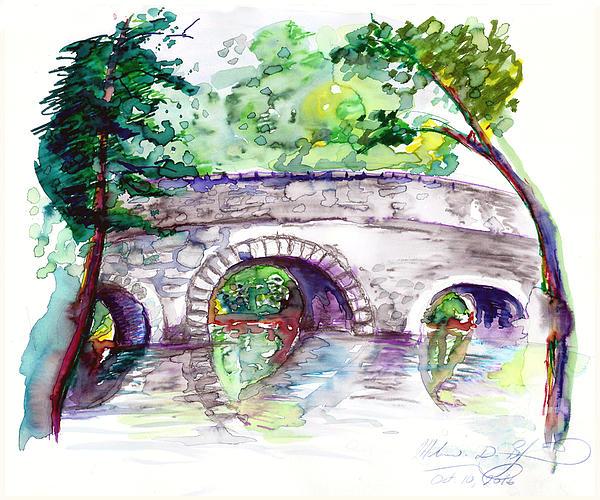 Melinda Dare Benfield - Stone Bridge in Early Autumn