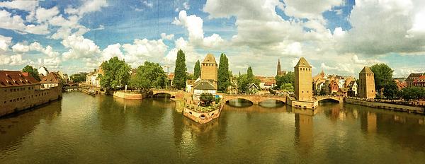 Gerlya Sunshine - Strasbourg. Top view from the Barrage Vauban. Panorama