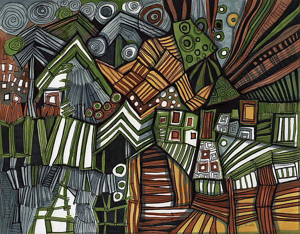 Sandra Church - Stripes Circles and Rectangular Shapes