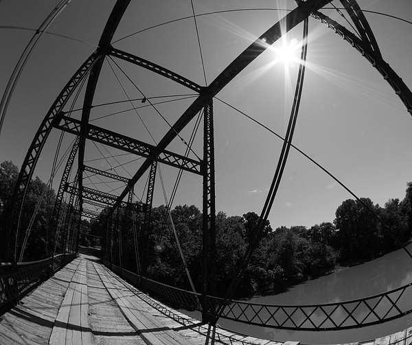 Mark A Brown - Summer Sun on Steel Bridge