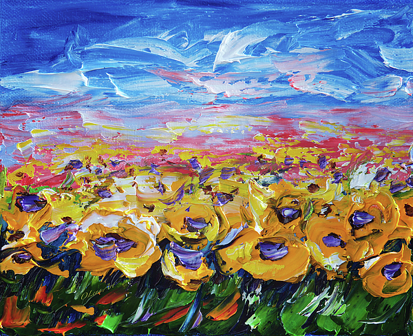 Lena  Owens OLena Art - Sunflower Field