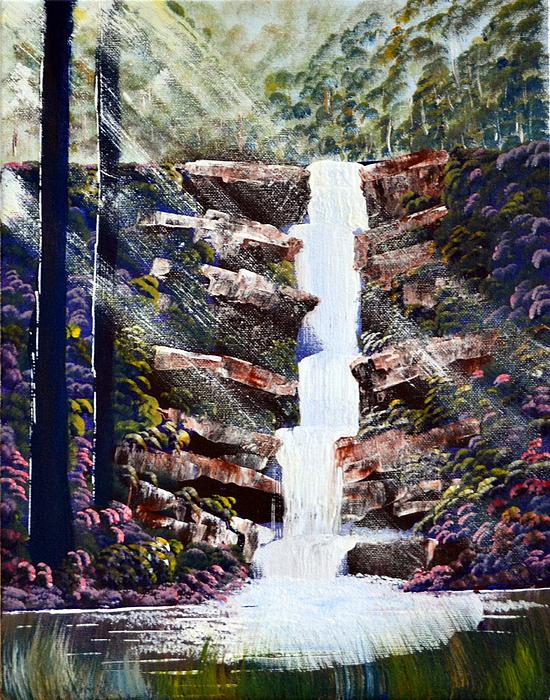 Deepa Sahoo - Sunrays on Waterfall