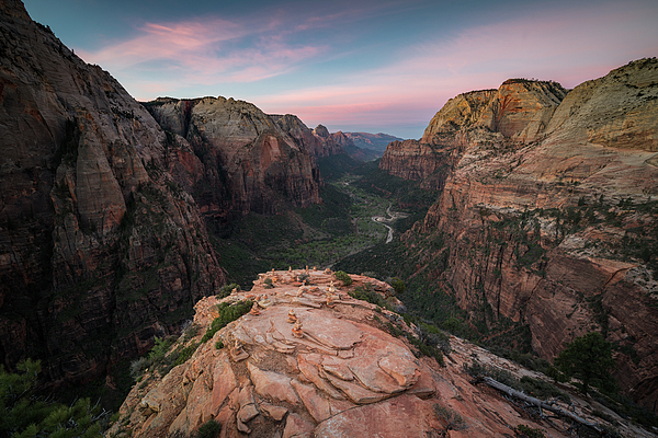 James Udall - Sunrise from Angels Landing