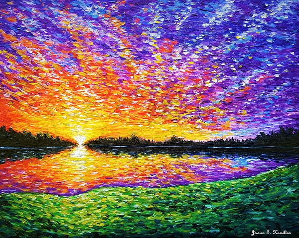 Jessica T Hamilton - Sunset by the Lake