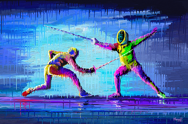 Sword Sparring Painting Painting