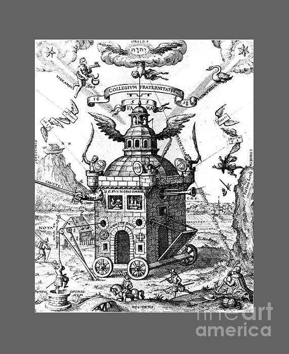 Temple Of The Rosicrucians Drawing