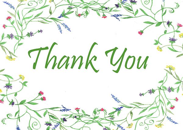 Irina Sztukowski - Thank You Card Watercolor Wildflowers