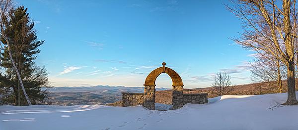 Angelo Marcialis - The Chapel In Golden Snowy Dress