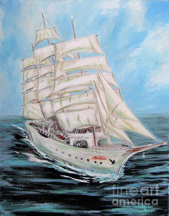 Oksana Semenchenko - The Fortune is Coming. Painting of Sailing Ship