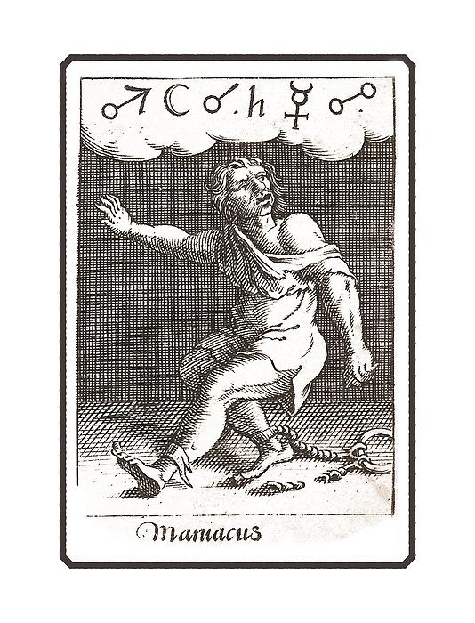 The Maniac - Madman Antique Print Digital Art