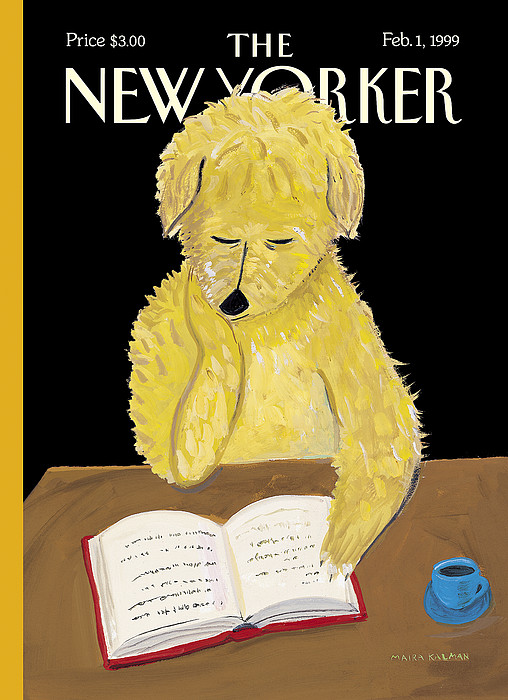 The New Yorker Cover - February 1, 1999 by Maira Kalman
