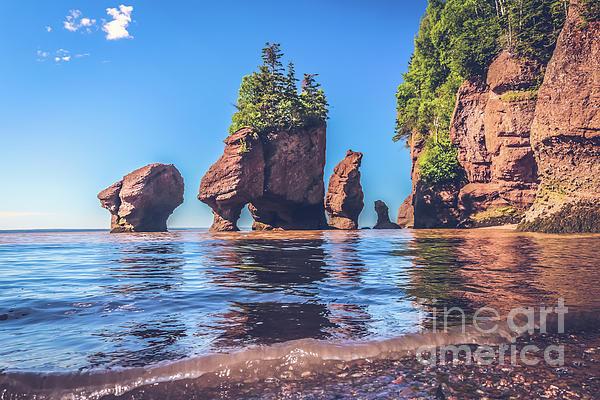 Claudia M Photography - Tide rising at Hopewell Rocks