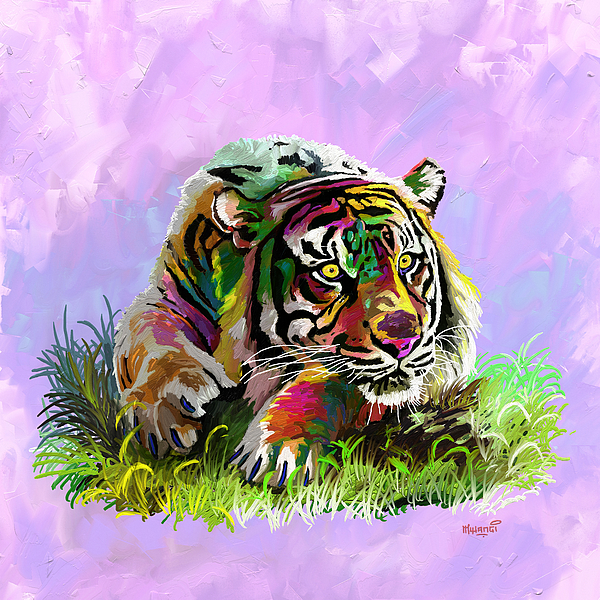 Anthony Mwangi - Colorful Tiger