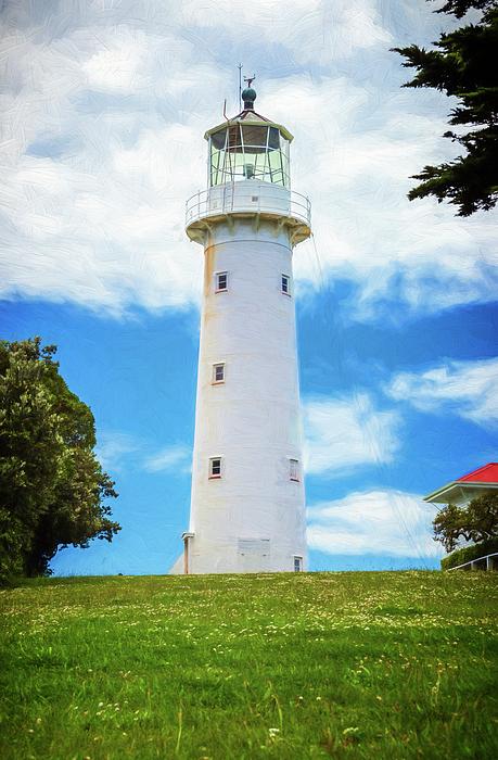 Joan Carroll - Tiritiri Matangi Lighthouse New Zealand Painterly II