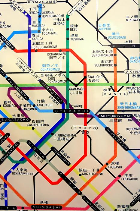 Tokyo Subway Map Framed.Tokyo Subway 2 Shower Curtain