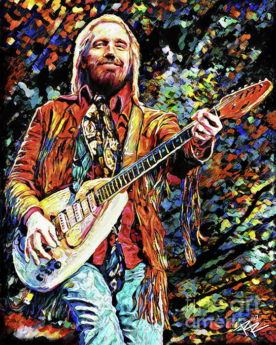 Arts Live Song Room: Tom Petty Art Greeting Card For Sale By Ryan Rock Artist