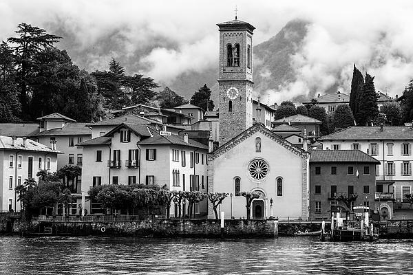 Joan Carroll - Torno on Lake Como Italy BW II