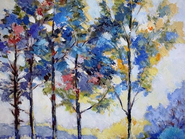 Cathy MONNIER - Trees at dawn