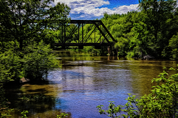 Trestle Over River Op14 Photograph