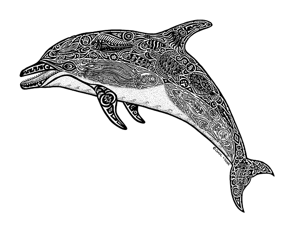Tribal Dolphin Throw Pillow For Sale By Carol Lynne
