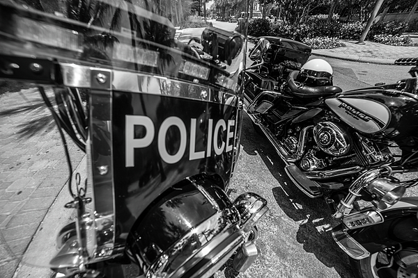 Don Columbus - Twin Harley Police Cycles