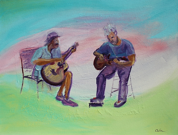 Asha Carolyn Young - Two Friends playing Guitar