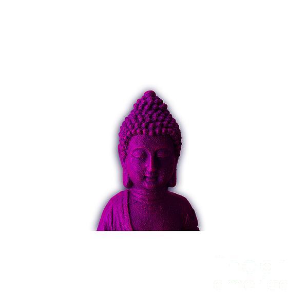 Ultra Violet Calm Buddha Face Photograph