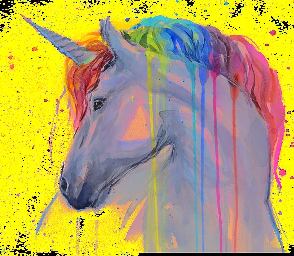Unicorn Rainbow Watercolor T-Shirt for Sale by Olga Shvartsur