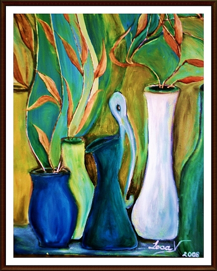 Lecca - Vase with autumn leaves