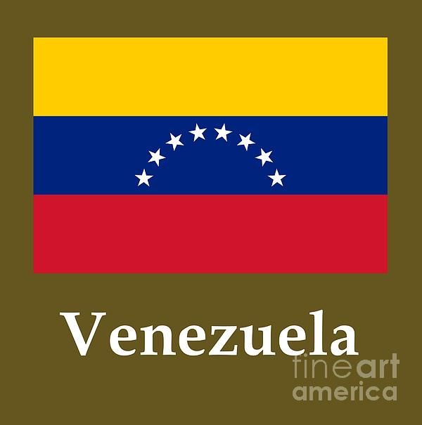 Venezuela Flag And Name Digital Art