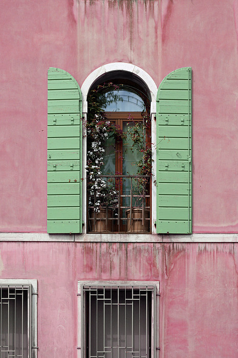 Brooke T Ryan - Venice Window in Pink and Green