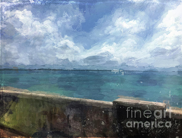 Luther Fine Art - View from Bermuda Naval Fort