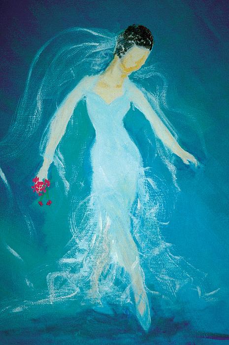 Vintage Ballerina Bride 2007 Painting