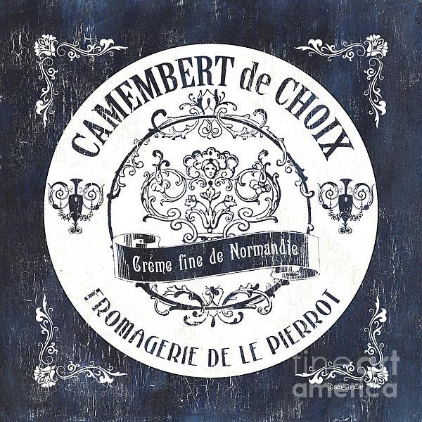 Vintage French Cheese Label 3 By Debbie DeWitt