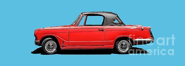 Vintage Italian Automobile Red Tee Photograph