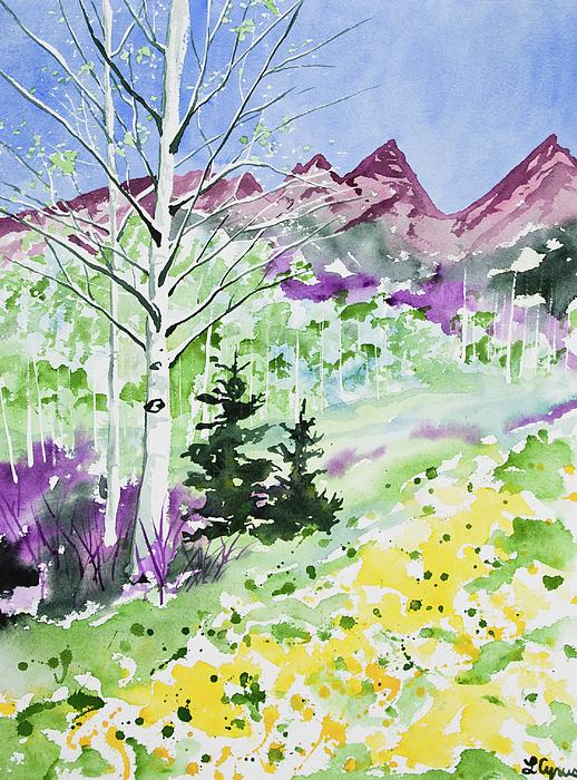 Cascade Colors - Watercolor - Springtime in the Rocky Mountains