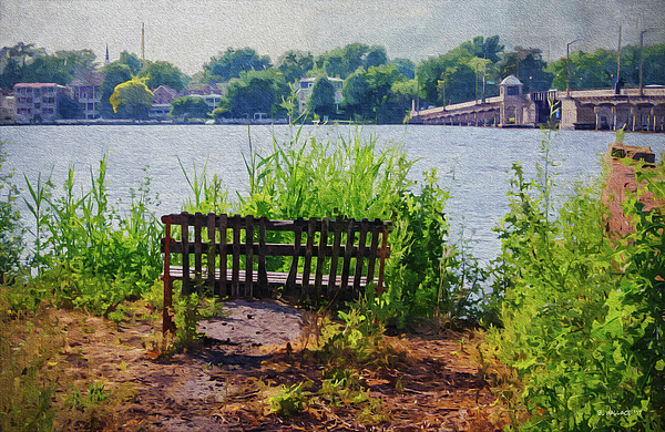 Brian Wallace - Waterfront Bench - Paint FX