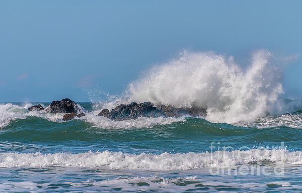 Marv Vandehey - Wave Crashing Against Rocks