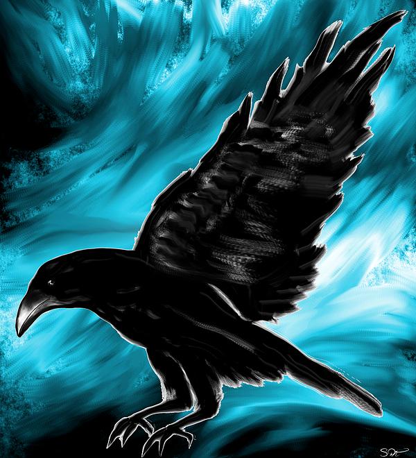 Abstract Angel Artist Stephen K - When Black meets Blue