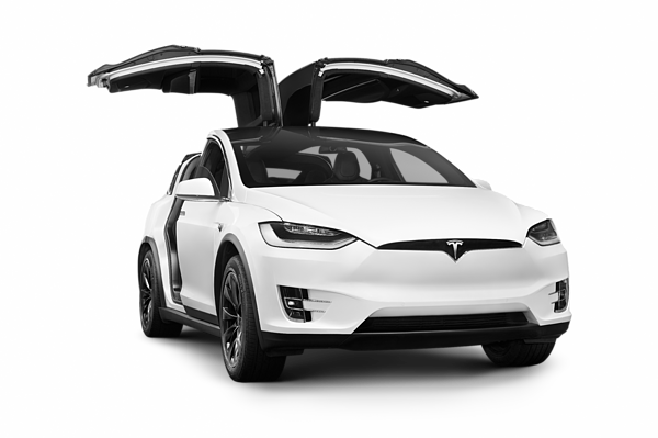 White 2018 Tesla Model X Luxury Suv Electric Car With Open Falcon Wing Doors Carry All Pouch For Sale By Awen Fine Art Prints