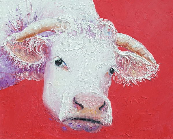 Jan Matson - White cow with horns