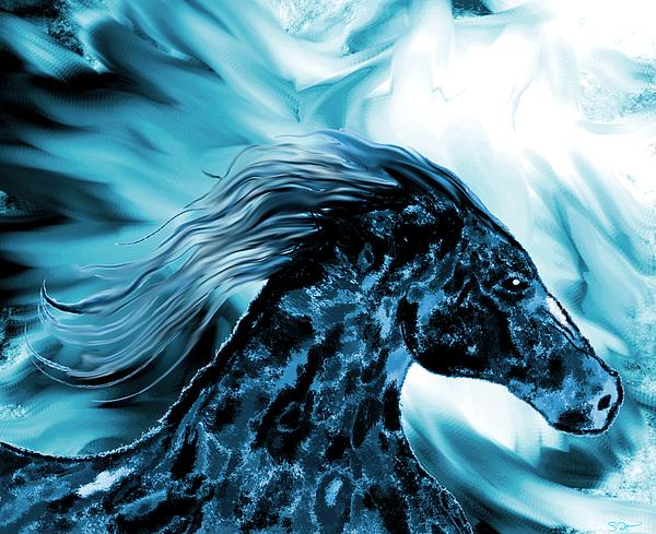 Abstract Angel Artist Stephen K - Wild Horse in Winter