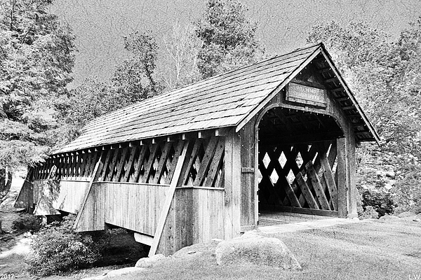 Lisa Wooten - Will Henry Stevens Covered Bridge Black And White