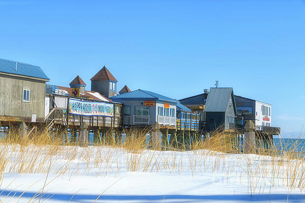 Elizabeth Dow - Winter at Old Orchard Beach