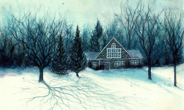 Janine Riley - Winter Blues - Stone Chalet Cabin