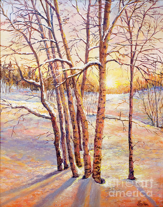 Lou Ann Bagnall - Winter Trees Sunrise