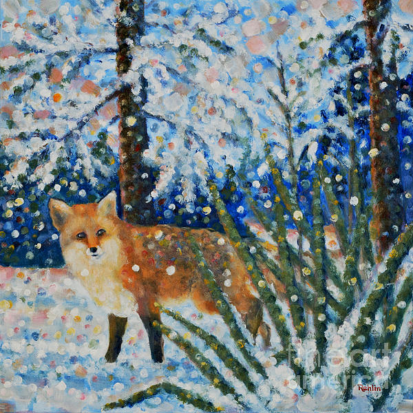 Jim Rehlin - Winter Yucca / Red Fox