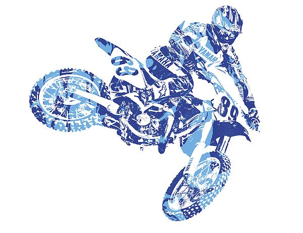 X Games Motocross Pixel Art 8 Throw Pillow For Sale By Joe Hamilton